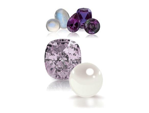 Pearl, Alexandrite and Moonstone Gemstones