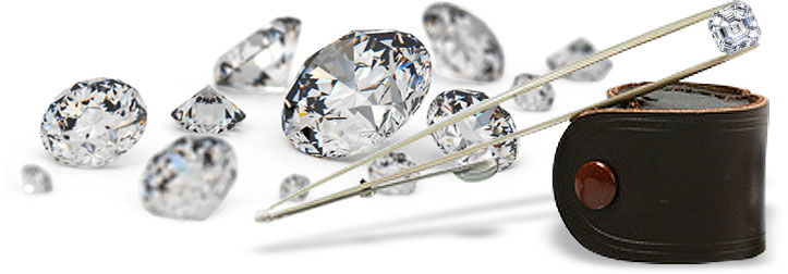 Diamonds of various sizes
